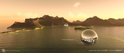 Epic Skydomes - Ocean Mountain Sunset HD