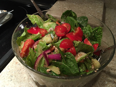 GF Greek Salad with Homemade Dressing