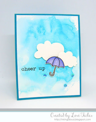 Cheer Up card-designed by Lori Tecler/Inking Aloud-stamps and dies from Paper Smooches