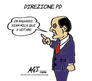bersani, Minoranza Pd, direzione PD, vignetta, satira