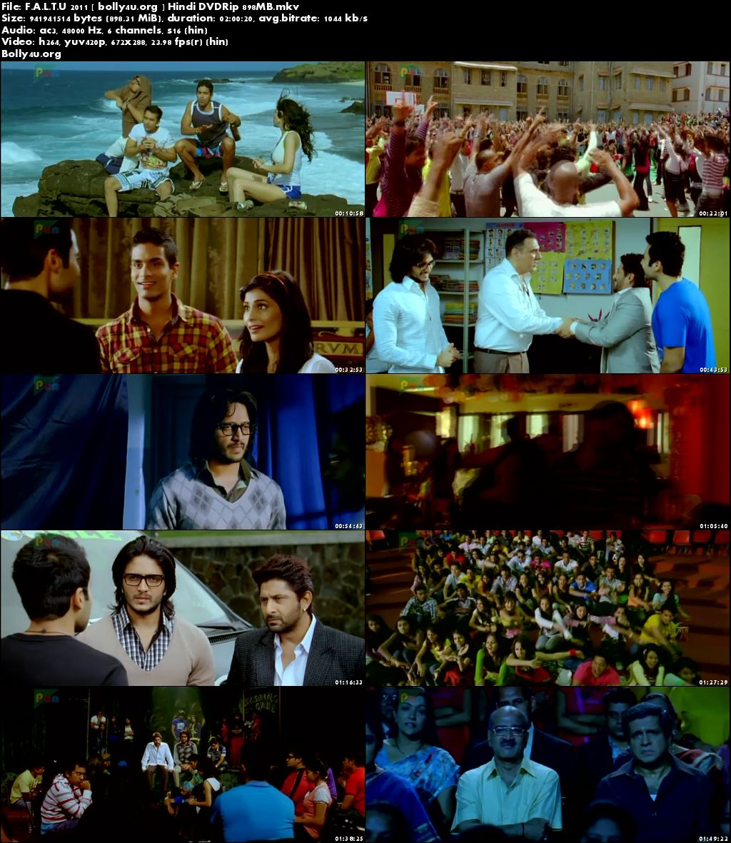 F.A.L.T.U 2011 DVDRip 900MB Full Hindi Movie Download