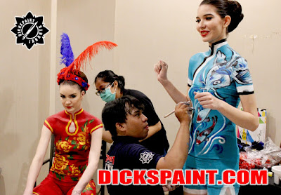Body Painting Cheongsam Jakarta