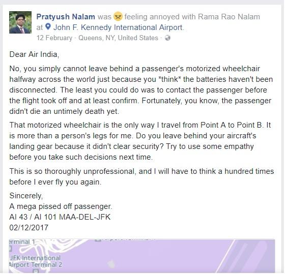 Picture of the Facebook post of Pratyush Nalam posted on https://www.facebook.com/pratnala/posts/10210158390489903