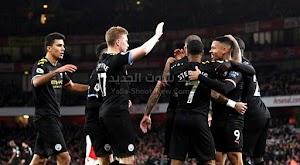دي بروين يقود مانشستر سيتي لتحقيق فوز كاسح على ارسنال بثلاثية في الدوري الانجليزي