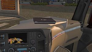 Mercedes MP4 interior table