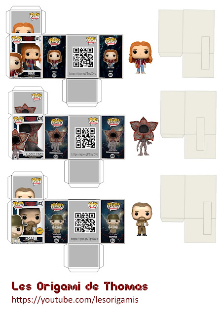 Mini Funko Pop en papercraft - Template Funko Pop paper