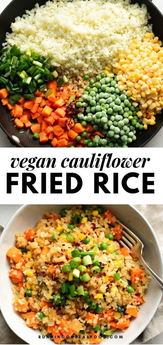 Healthy Vegan Cauliflower Fried Rice