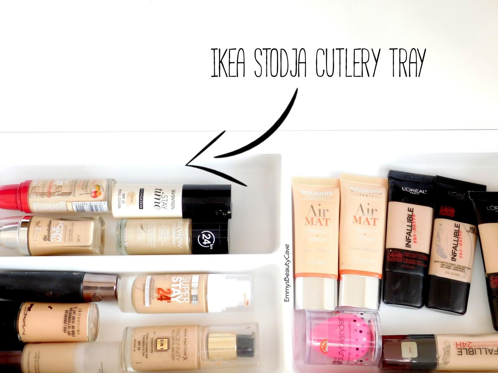 Makeup storage ikea alex drawers and malm dressing table - Malm dressing table drawer organizer ...