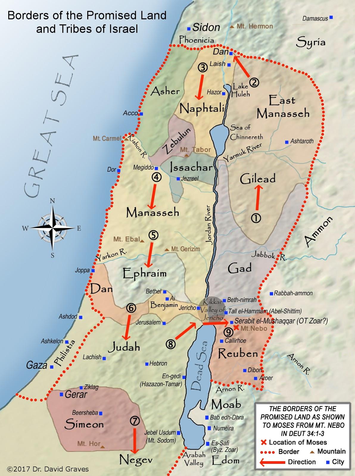 Biblical Archaeology Map 13