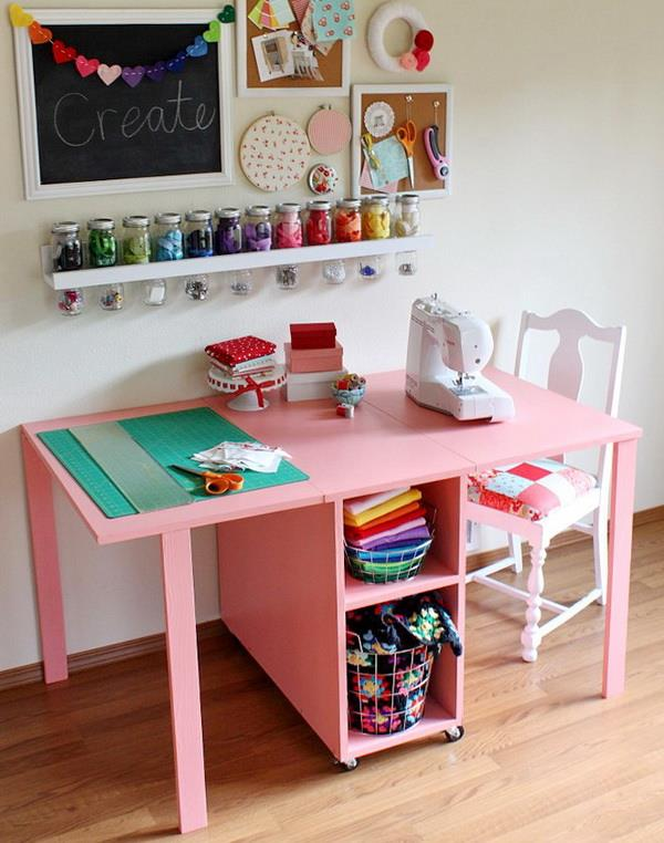 Sewing Cutting And Storing Table For Small Spaces