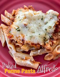 Baked Penne Pasta Alfredo