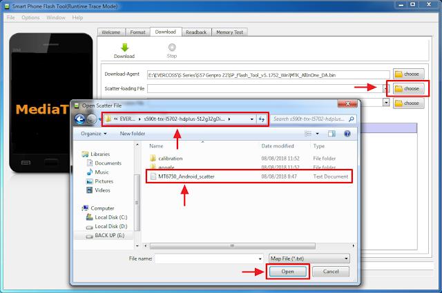 Silahkan masukkan file scatter untuk flash genpro Z2 S57