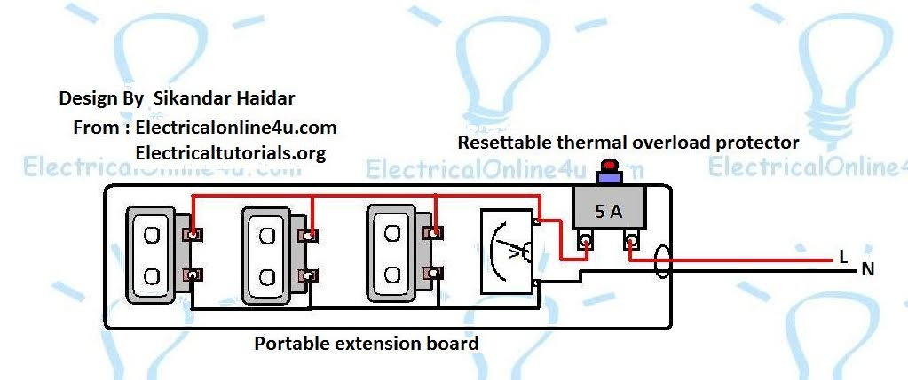 Admirable Extension Board Wiring Diagram Electrical Online 4U Wiring 101 Cajosaxxcnl