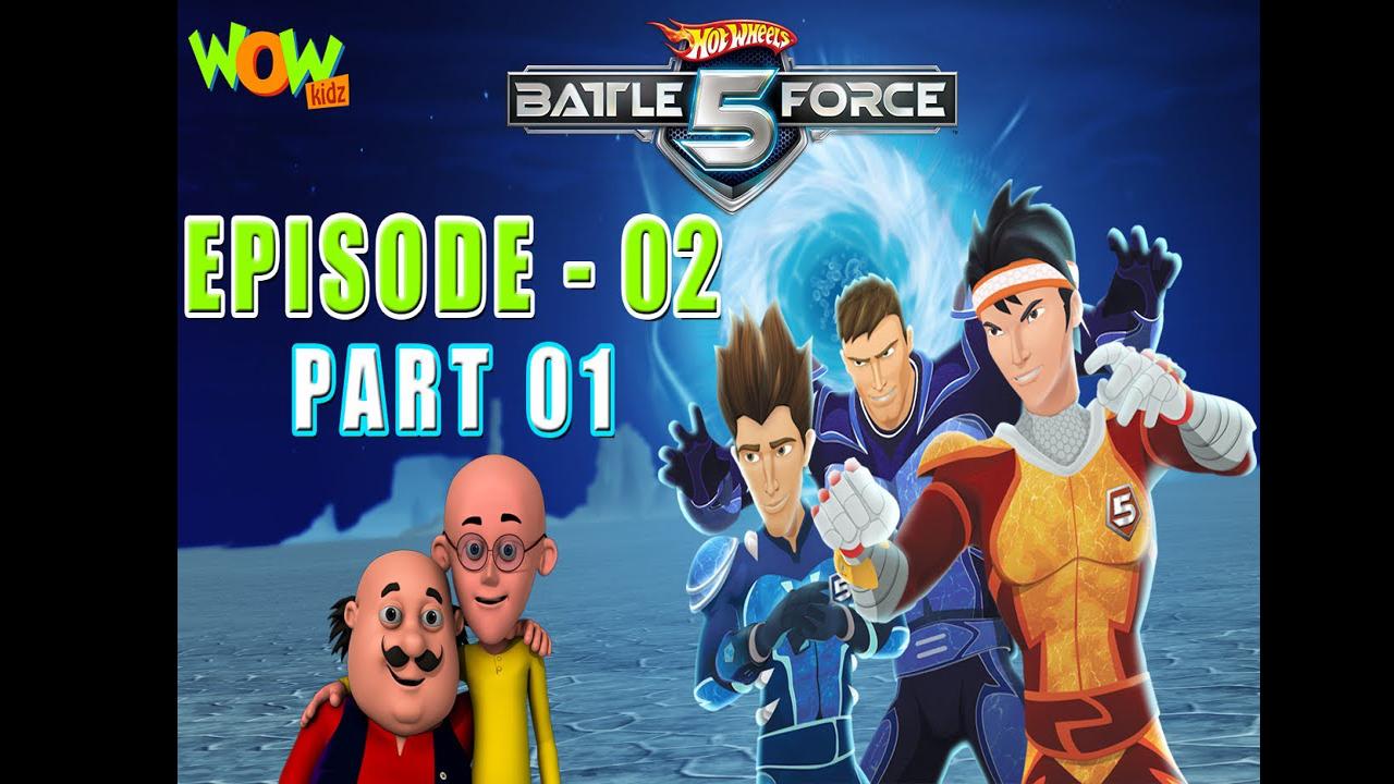 Motu Patlu Presents Hot Wheels Battle Force 5 Gearing Up Episode 2 P2 In Hindi
