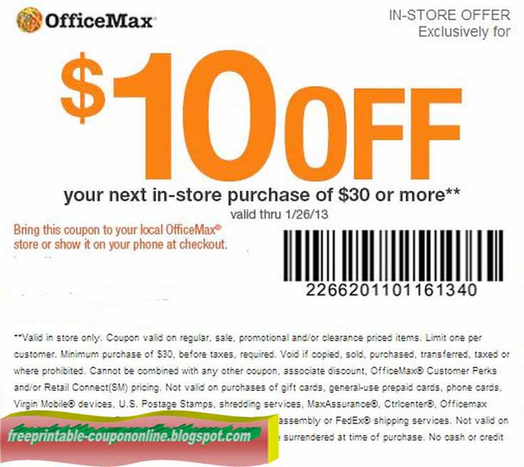 Office max coupons printable december 2018