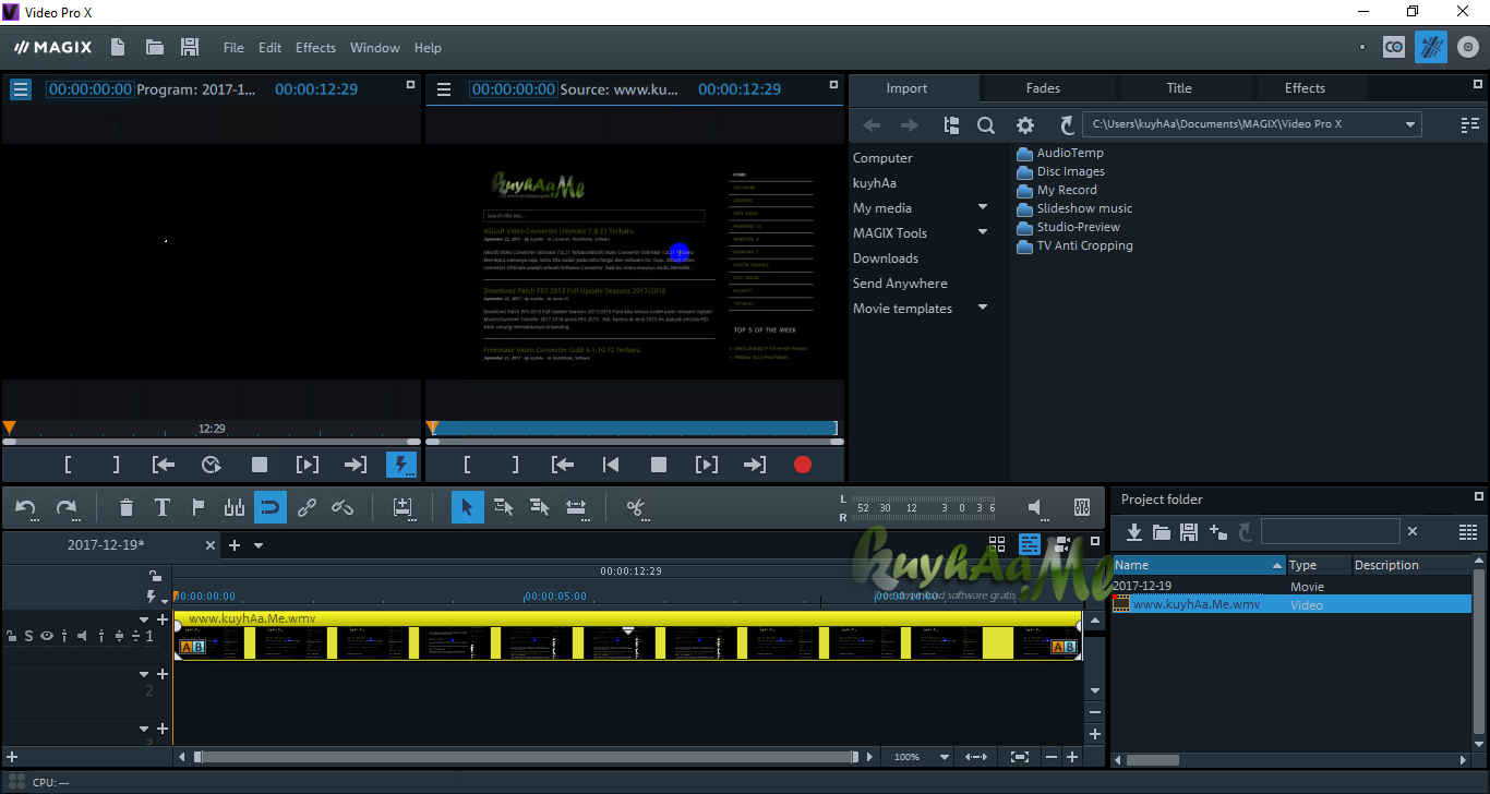 magix video pro x2 video editing software free download