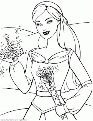 Gambar Mewarnai Barbie (1)