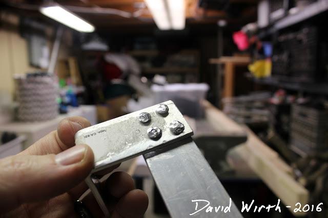 aluminum rivets, platten