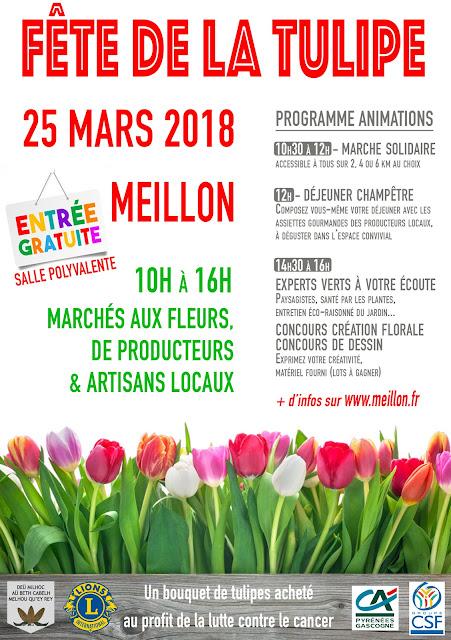 1ere  Fête de la Tulipe Meillon 2018