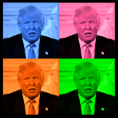 Digital Image | Digital Trump: Many Colors | ©2016 John Poole | DomainMondo.com