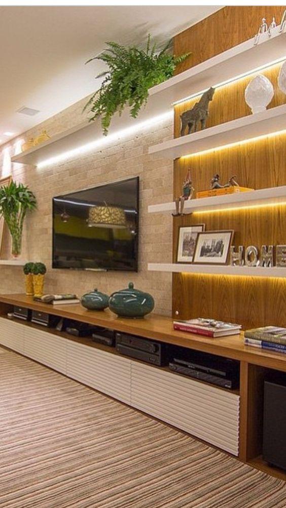 ideias para usar prateleiras na decora o de salas reciclar e decorar blog de decora o e. Black Bedroom Furniture Sets. Home Design Ideas