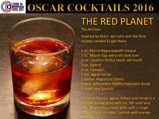 Oscar Cocktails 2016 The Martian The Red Planet
