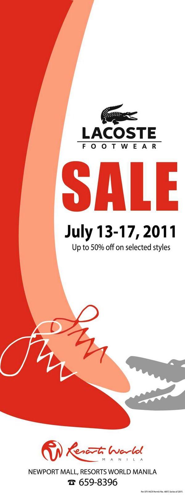 Manila shopper july 2011 lacoste footwear sale stopboris Gallery