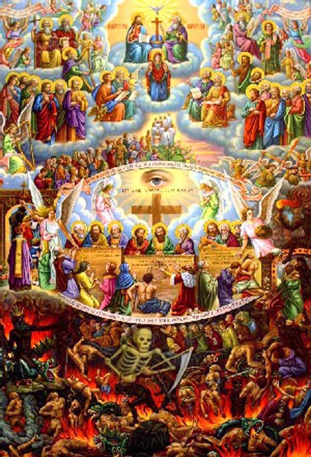 Kết quả hình ảnh cho heaven hell and purgatory