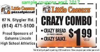 Little Caesars coupons april 2017