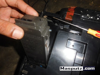 memasang psu printer