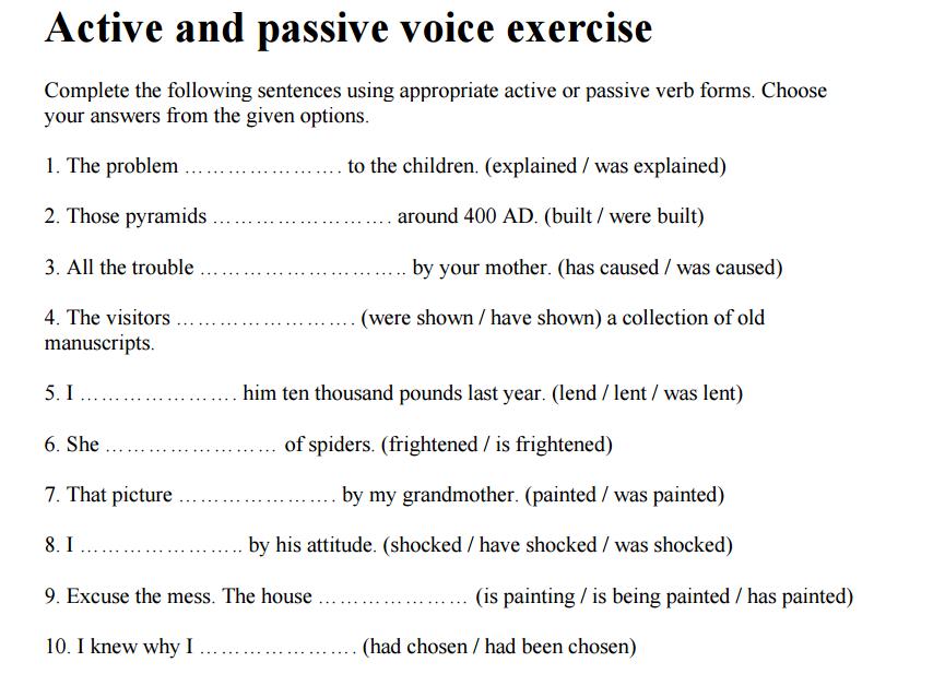 гдз по английскому языку test. active voice