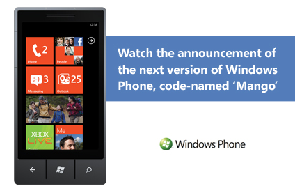 Windows Phone Mango update is official