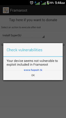 Gagal root dengan Framaroot, SuperSU tidak dapat diinstall, muncul pesan Your device seems not vulnerable to exploit included in Framaroot