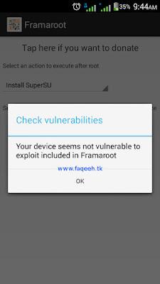 Gagal root dengan Framaroot, SuperSU tidak dapat diinstall, muncul pesan Your device seems not vulnerable to exploit included in Framaroot