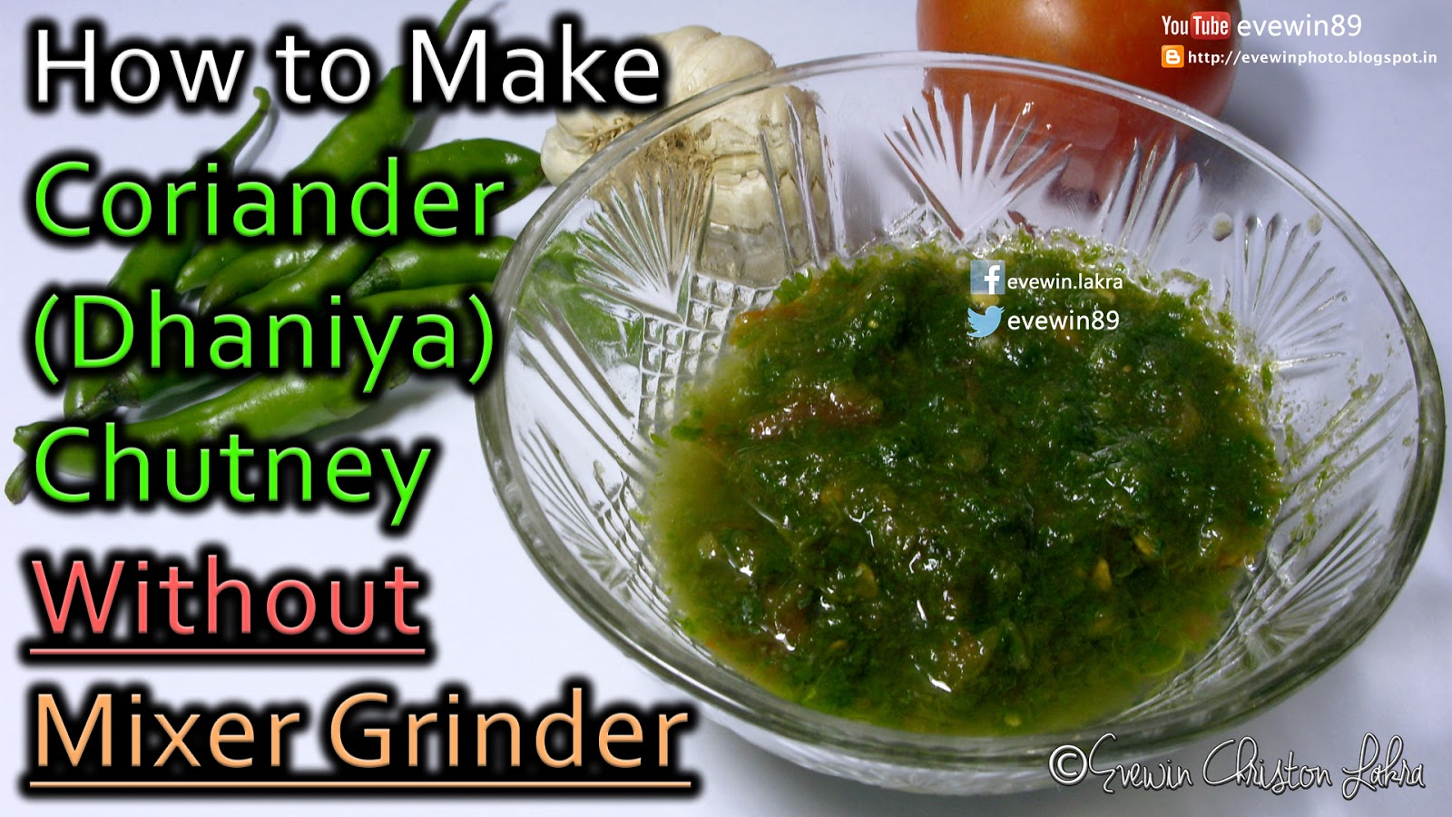 Evewin Photo How To Make Coriander Dhaniya Chutney Without Mixer