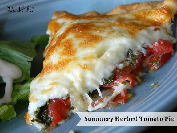 herbed tomato pie