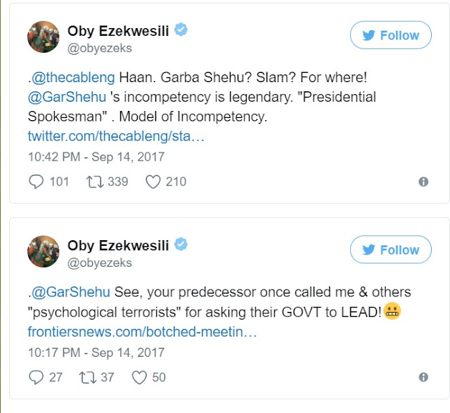 Your incompetence is legendary, Ezekwesili hits back at Garba Shehu