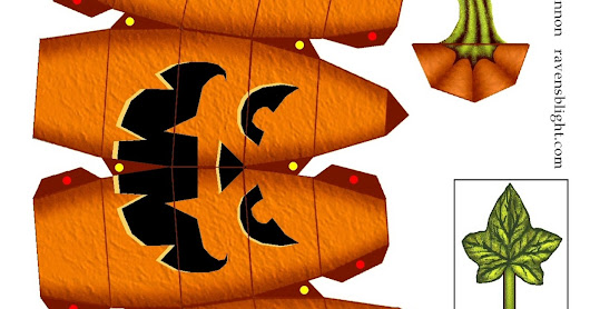 DIY Halloween : Citrouille en papercraft !