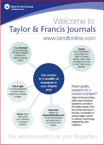 Library Adds Taylor & Francis Database   CAUL - CBUA