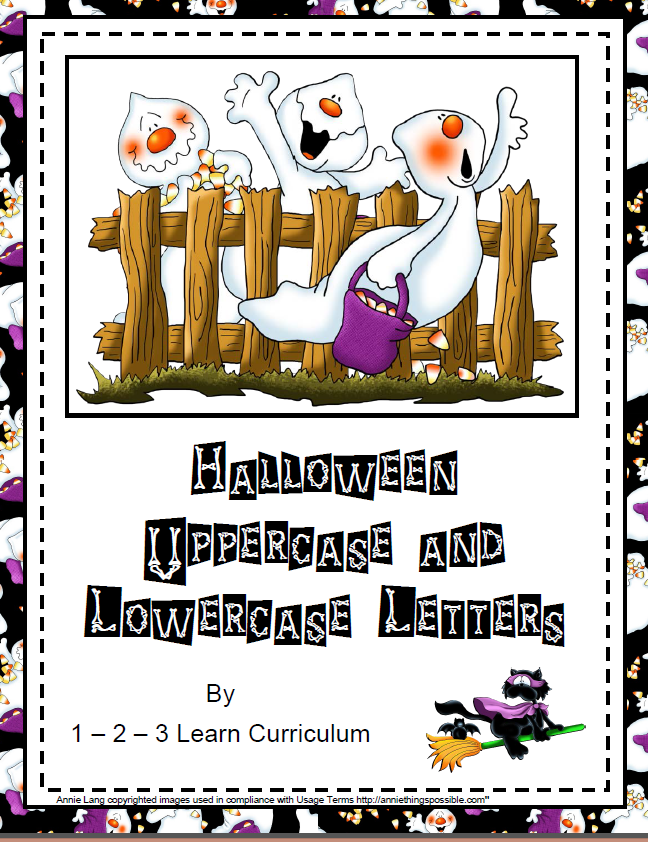 Halloween Alphabet Letter R Cat Witch Ryta: 3 Learn Curriculum: Halloween Alphabet Cards And