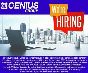 Lowongan Kerja di PT Genius Computer Centre