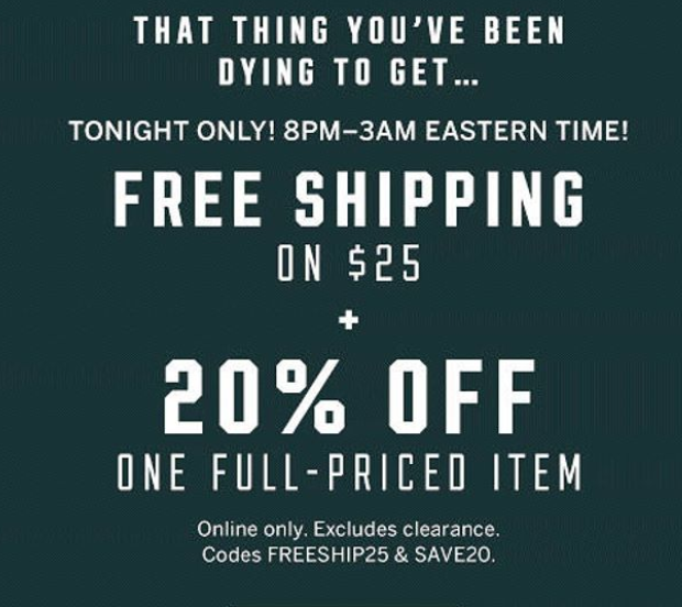 9e97f8ffd7 ... Secret is offering free ship on  25 + 20% off any single item (valid on  full-priced purchases only) when you use promo codes  FREESHIP25 and SAVE20.