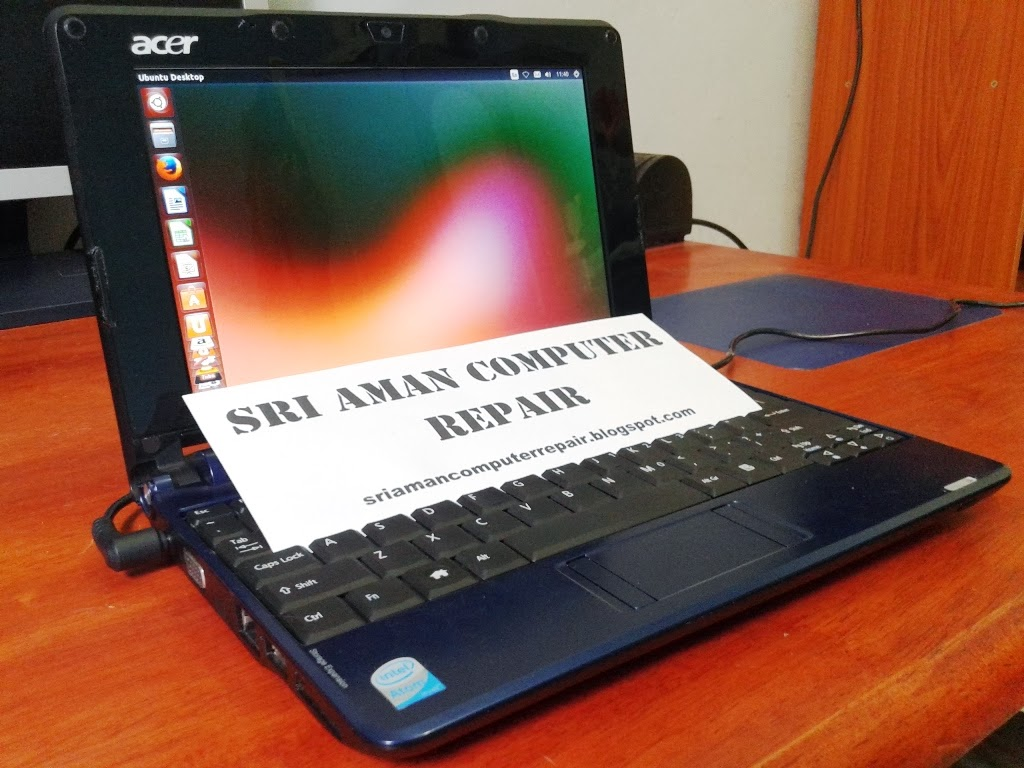 Masalah A Disk Error Occurred Pada Netbook Acer Aspire One