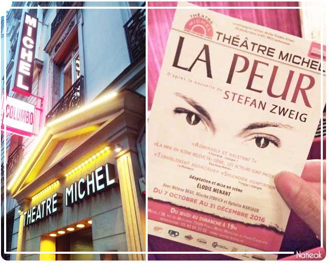 La peur Théâtre Michel
