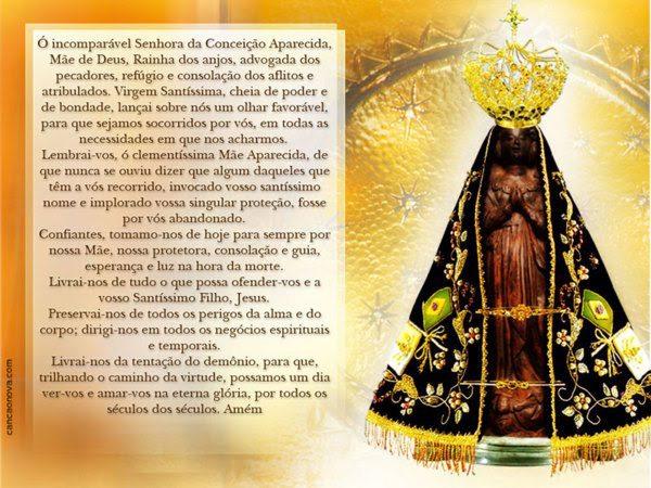 Mensagem De Nossa Senhora Aparecida Para O Dia 12 De: Oração Da Noite: Nossa Senhora Aparecida, Rogai Por Nós