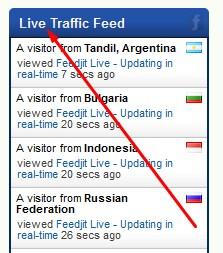 live recent visitors