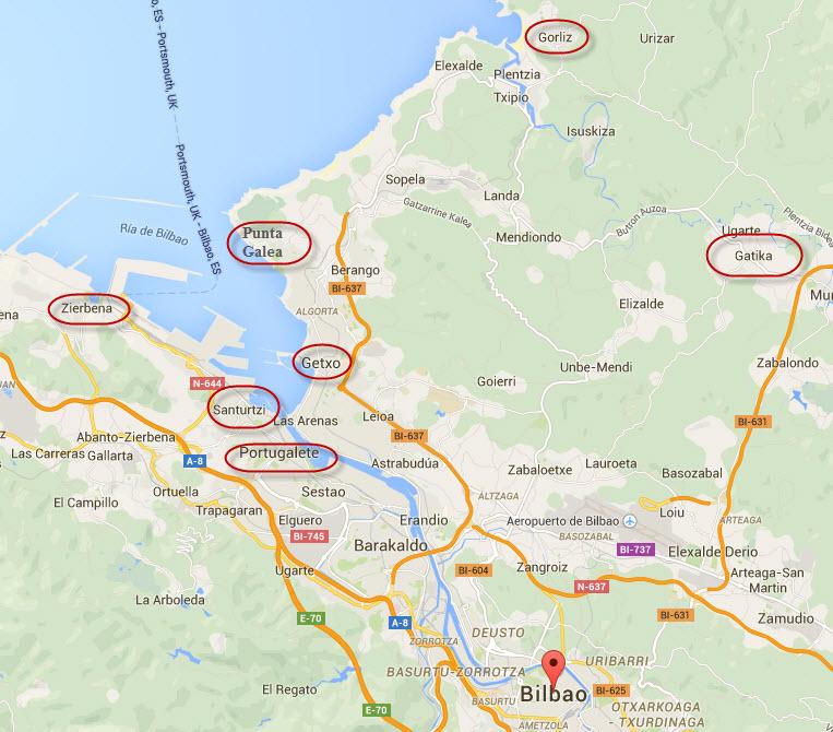 Mapa Bilbao Y Alrededores.Una Escapada A Bilbao Y Alrededores Que Hacer Y Ver