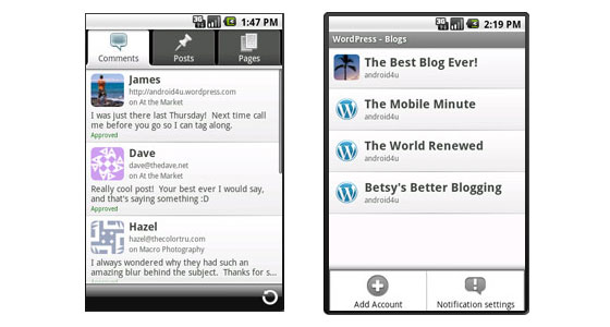 Descargar WordPress para Android