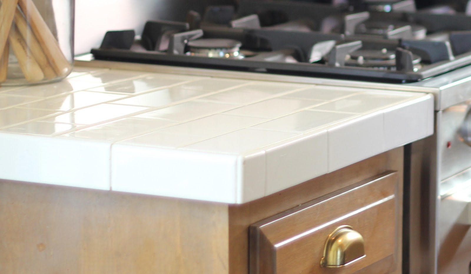 subway tile countertop tile kitchen countertops Jenny Steffens Hobick Diy Kitchen Remodel 40 Subway Tile Subway Tile Countertops