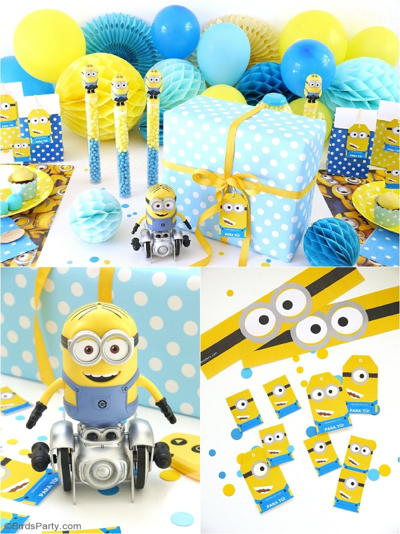 Minion Inspired Birthday Party Ideas FREE Printables